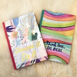 3/$20 Dream It Do It/Think Less Do More Journals